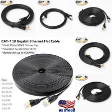 RJ45 CAT-7 10 Gigabit Ethernet Ultra Flat Patch Cable up to 50ft for LAN Network