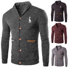 Men's Casual Slim Fit Knitting Cardigan Fashion Sweater Pullover Coat Jacket Top