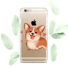 Cute Corgi Dog Design Silicone Soft Rubber Case Cover Back For Apple iPhone