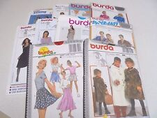 "Burda Assorted Sewing Patterns ""Choose a Pattern"" -UNCUT Sewing Patterns Ass Sz"