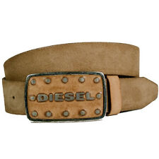 Diesel Belt Batto Belt Leather Brown with Buckle NEW - WOW