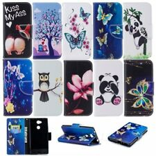 For Sony Xperia L2/XA2 wallet phone case card holder flip folio protective skin