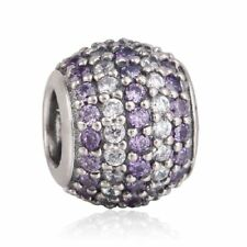authentic sterling silver Mixed CZ Pave Ball Beads with AAA Cubic Zirconia Charm