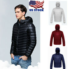 Men's Warm Cotton Padded Down Coat Winter Slim Thick Casual Outerwear Jacket USA