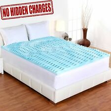 Orthopedic Bed Pad 5-Zone Authentic Comfort 2-Inch Foam Mattress Topper Sizes