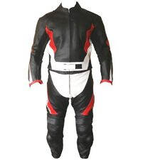MOTORCYCLE LEATHER SUIT MOTORBIKE RACING SUIT MEN BIKER SUIT JACKET TROUSER 2-PC