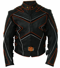 X-MEN JACKET MOTORBIKE/MOTORCYCLE JACKET MEN LEATHER JACKET RACING CE ARMOUR