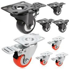 Swivel Caster Rubber Wheel Steel Top Plate Ball Bearings Pack of 4 PCS 4'' NEW