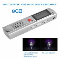 8GB Metal Stereo Recording Digital Voice Recorder Dictaphone Audio MP3 player XP