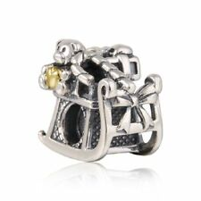 authentic Sterling Silver Charm bead Charms European Bead Fit Snake Chain Bangle