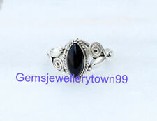 925 STERLING SILVER BLACK ONYX RING STONE GEMSTONE RING ANY SIZE R13BO