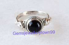 925 STERLING SILVER BLACK ONYX RING STONE GEMSTONE RING ANY SIZE R27BO