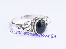 925 STERLING SILVER BLACK ONYX RING STONE GEMSTONE RING ANY SIZE R22BO