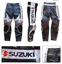 GSXR SUZUKI MEN LEATHER TROUSER MOTORBIKE/MOTORCYCLE LEATHER RACING TROUSER/PANT