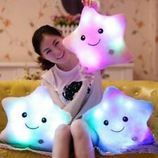 Star Shaped Glowing LED Pillow 7 Color Changing Light Up Soft Cushion