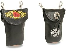 Milwaukee Leather *Men's & *Women's Detailed Belt Bags W/ Double Clasps (7.5x6)