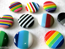 10 Buttons, different Patterns,approx. 18 mm,Patterns selectable K82