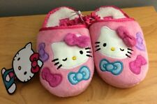 Hello Kitty Sanrio Toddler Slippers Pink NWT Slip-on Bows
