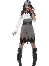 Womens Halloween Zombie Pirate Lady Costume Ladies Fancy Dress Outfit