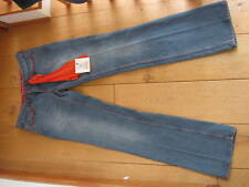SEVEN 7 SURVIVAL STONEWASHED BLUE BOOTCUT JEANS 25 29 WAIST LEATHER POCKET NEW