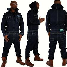 Brooklyn Mint jumpsuit, denim overalls urban hip hop jeans time is money mens