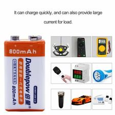 9V 800mAh Li-ion Rechargeable Battery For Helicopter Microphone Multimeter iKun