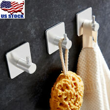 Self Adhesive Home/Kitchen Wall Hanger Stainless Steel Sticking Hooks Holder USA