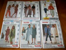 Burda sewing pattern Misses plus sizes 10 12 14 16 18 20 22 24 26 28  you Pick