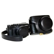 Protective Leather Camera Case Bag with Strap for Panasonic LX100 - Free Ship