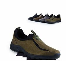 Mens loafer suede leather hiking walking loafer slip on trail sneakers shoes