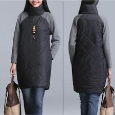 Women New Fashion Padded Cotton Plus Size Casual Loose Autumn Spring Dress