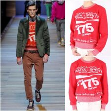 NWT Authentic Dolce and Gabbana D&G Coca Cola Red Sweater Size EU 50, 52