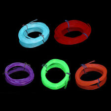 4m Flexible EL Wire Tube Rope Neon Light Glow Controller Car Party Bar Decor