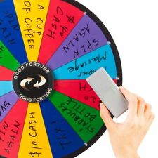 Tabletop Spinning Prize Wheel 14 Slots with Color Dry Erase Trade Show Spin Game