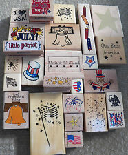 4th of JULY Rubber Stamp Patriotic 4th of July Sparkler Star Flag Liberty Bell