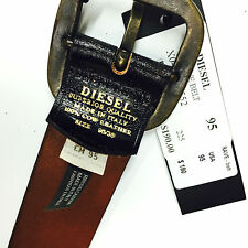 DIESEL B-BRAVE LEATHER BELT ( MADE IN ITALY ) REG $190
