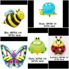 BEE, LADYBUG, BUTTERFLY, SNAIL, FROG Animal Foil  Balloon Birthday Party  Kids