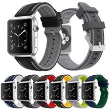 Silicon Rubber Replacement Silicone Watch Strap Band for Apple iWatch 38mm 42mm