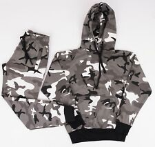 Military BDU Army Camouflage camo Pants and Camo Hoodie Woodland