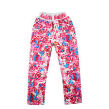 Floral Printed Girls Jeans Children Denim Pants Letter Elastic Waist Leggings