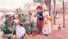 The Flower Stall by Alfred Glendenning Jr Artwork by Selby Prints