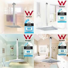 Rainfall Square Shower Head Rose Set with 400mm Ceiling Arm Dropper 8''/10''
