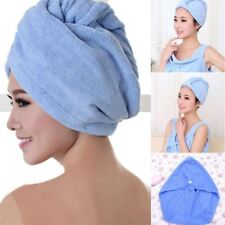 Quick Dry Microfiber Towel Hair Magic Drying Turban Wrap Hat Candy Color Cap Spa