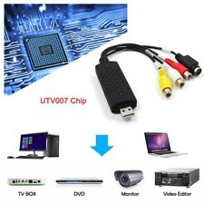 USB 2.0 Video Adapter with Audio Capture Video TV DVD VHS DVR Capture Cable