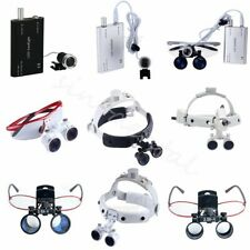Dental Loupes Surgical Binocular Glass Medical Magnifier & LED Head Light SINO