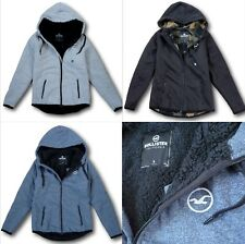 NWT Hollister by Abercrombie&Fitch Mens Sherpa-Lined Icon Hoodie Fur Jacket Coat