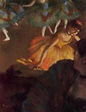 Art Print - Ballerina And Lady With A Fan - Edgar Degas 1834 1917_1