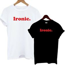 Ironic T Shirt Red Print Fashion Tee Slogan Celebrity Top Bloggers Tumblr Slouch