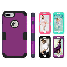 For iPhone 7 Plus Hot Armor Hybrid Heavy Duty Shockproof Rubber Hard Case Cover