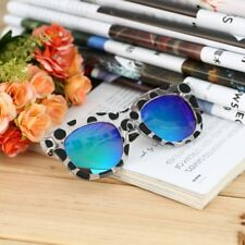 New Fashion Colorful Sunglasses Dots Thick Frame Colorful Film/Gray Lenses GT